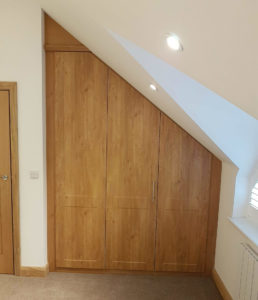 Loft conversions benefit from bespoke fitted furniture