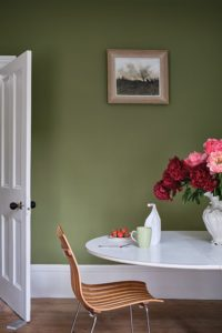 Sap green by Farrow and Ball - colour trends for interiors