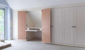 Working from your bedroom? Hide your desk in a wardrobe!