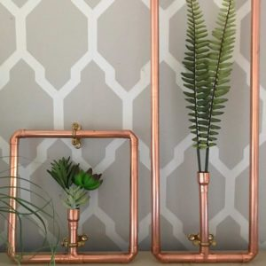 Adding greenery to your home - copper framed botanicals