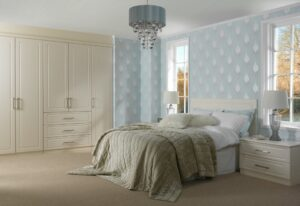 Light and airy fitted bedroom layout